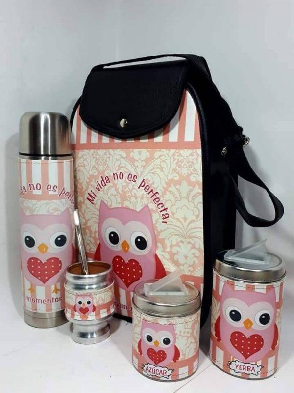 Set matero diseño de Buho Rosa colección FAR