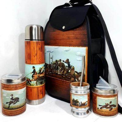 Set matero con diseño de Molina Campos colección FAR