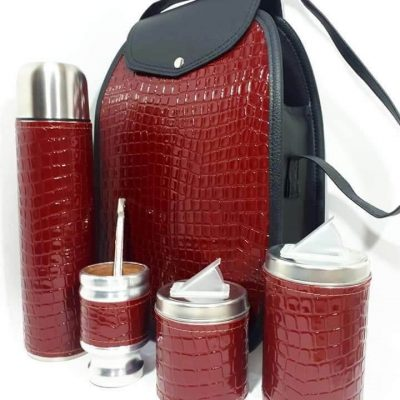 Set matero color croco Bordo colección FAR