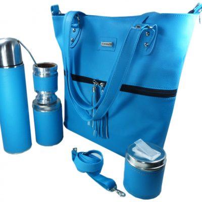 Set matero con cartera azul Aylen