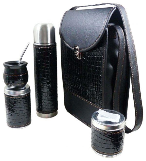 Set matero croco negro colección FLOKY