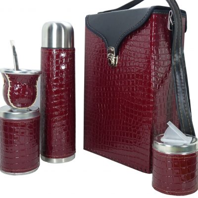 Set matero color croco Bordo colección FLOR