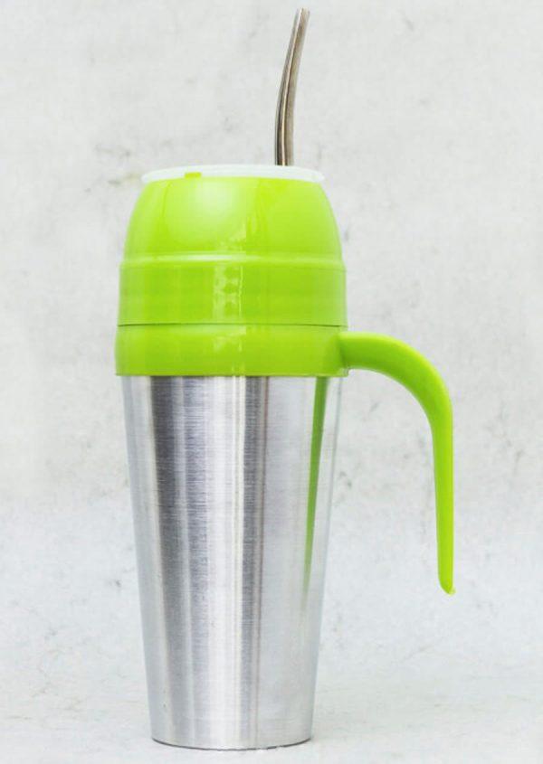 Mate autocebante de Aluminio color verde claro