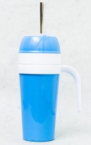 Mate autocebante de Plastico color azul