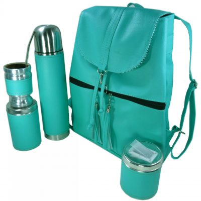 Set matero mochila color Aqua Aylen