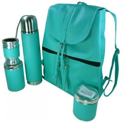Set matero mochila color Aqua Aylen