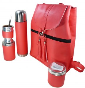 Set matero mochila color coral Aylen