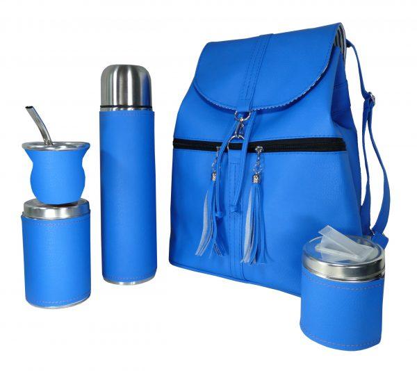 Set matero mochila color azul Aylen