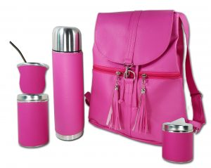 Set matero mochila color fucsia Aylen