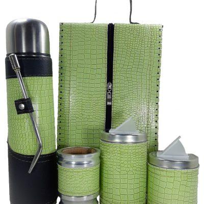 Set matero premium croco verde manzana colección MELU