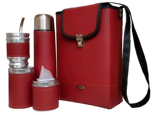 Set matero para dama y caballero color rojo al mayor y menor
