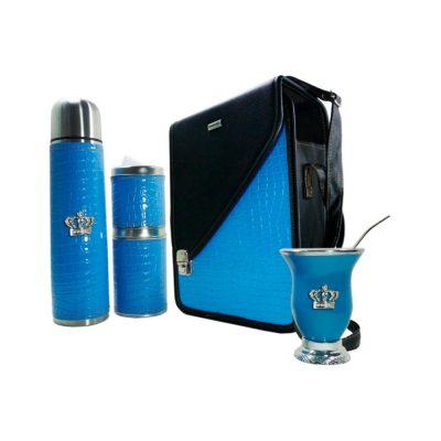 Set matero azul celeste con mate calabaza CATA
