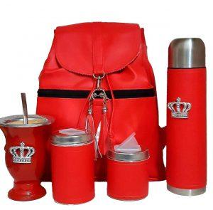 Set matero mochila Aylen roja