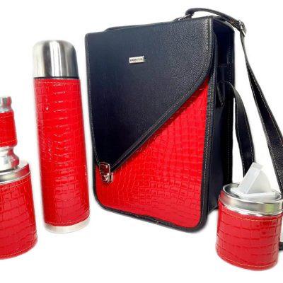 Set matero croco rojo colección CATA