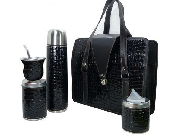 Set matero color croco Negro colección JACK