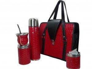 Set matero color croco Rojo colección JACK