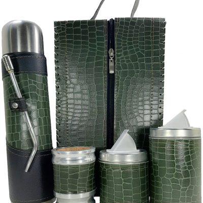 Set matero premium croco verde colección MELU