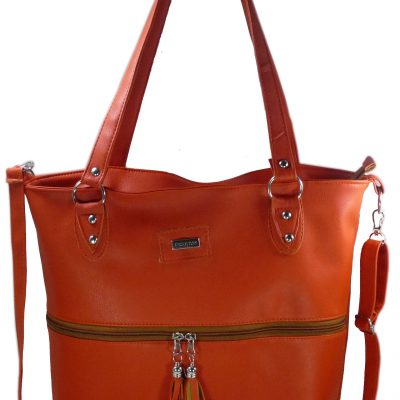 Cartera color naranja