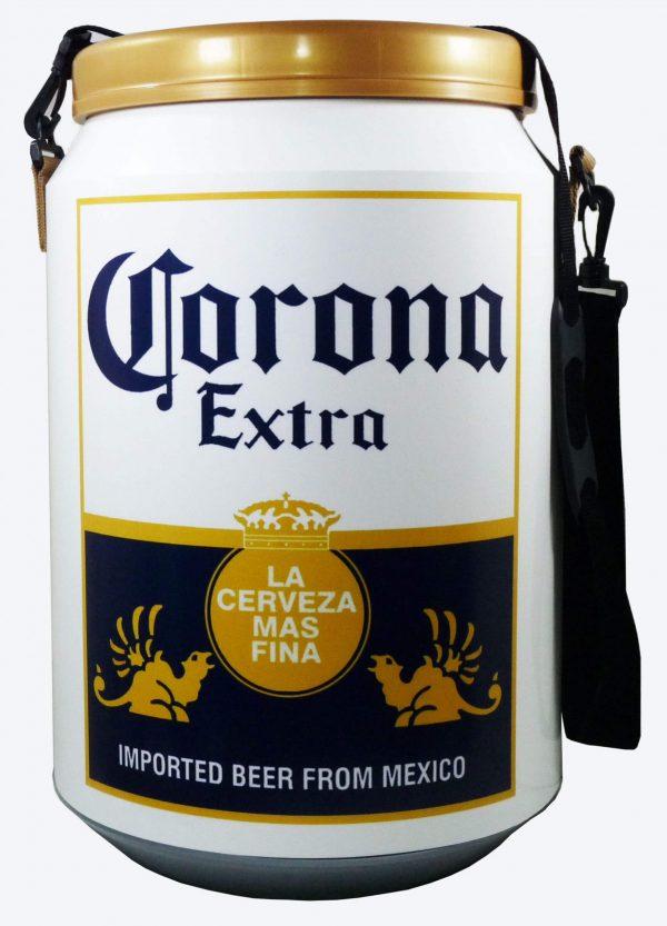 Conservadora con diseño de cerveza Corona