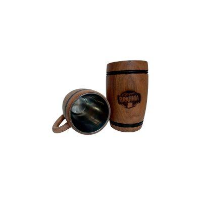 Chopera de madera con grabado laser Brahma