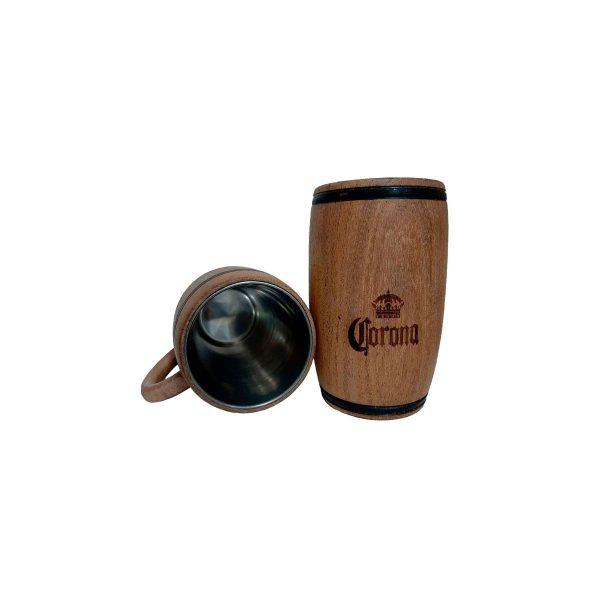 Chopera de madera con grabado laser Corona