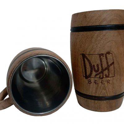Chopera de madera con grabado laser de Duff