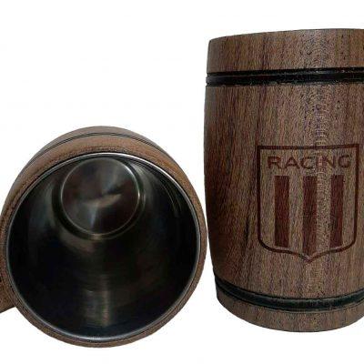 Chopera de madera con grabado laser de Racing