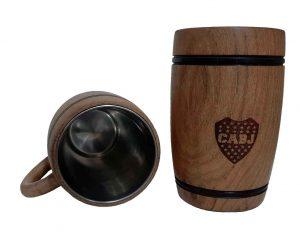 Chopera de madera con grabado laser del Boca Junior