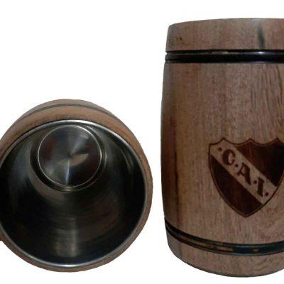 Chopera de madera con grabado laser de Independencia