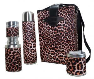 Set de mate economico con diseño Animal Print