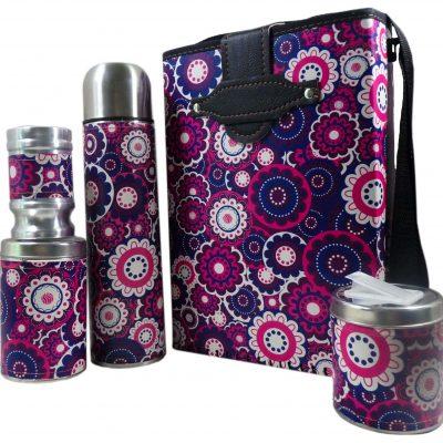 Set de mate economico con diseño de Mandalas Violetas