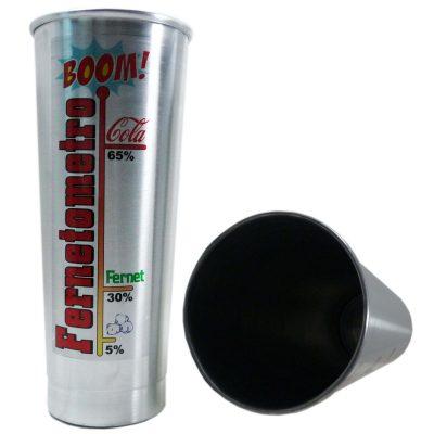 Vaso de aluminio Fernetometro sin manija