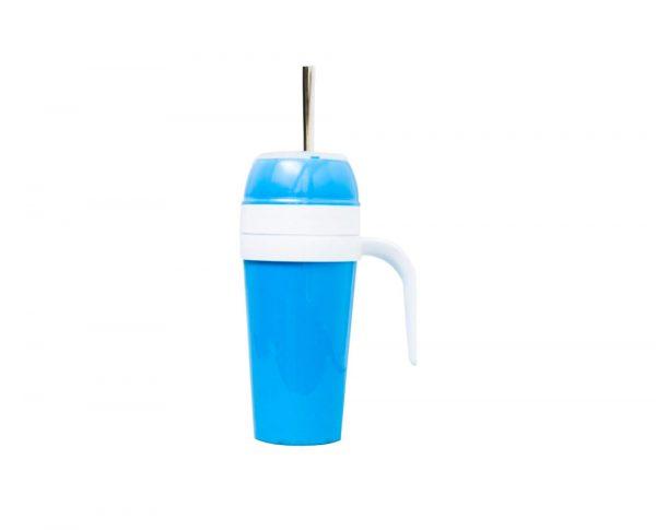 Mate autocebante de plastico azul