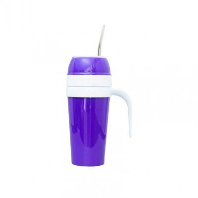 Mate autocebante de plastico violeta