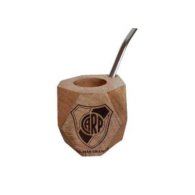 Mate de madera River Plate