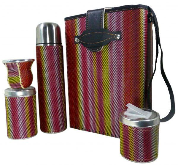 Set de mate economico con diseño Rayas de colores