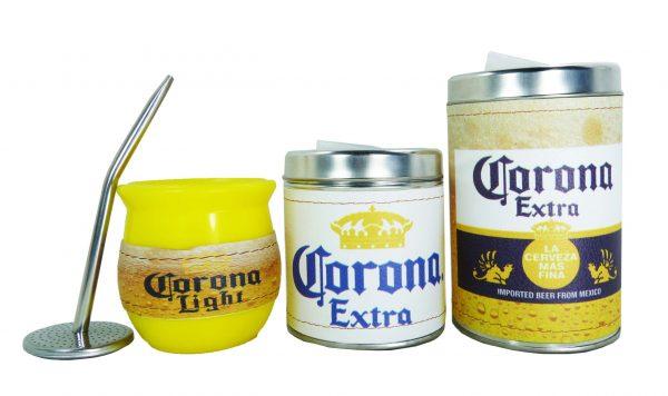 Set de 3 piezas diseño de Cerveza Corona