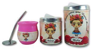 Set de 3 piezas diseño Frida rosa