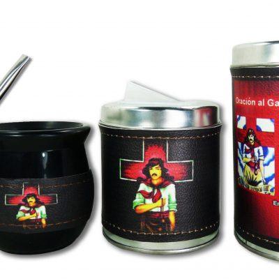 Set de 3 piezas diseño de Gauchito Gil
