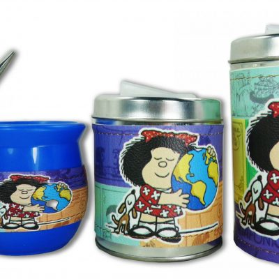 Set de 3 piezas diseño de Mafalda