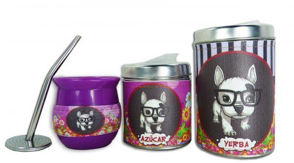 Set de 3 piezas diseño de Simones fucsia