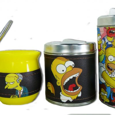 Set de 3 piezas diseño de Los Simpsons