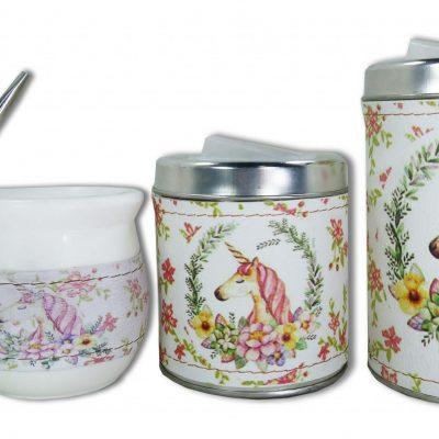 Set de 3 piezas diseño de Unicornio