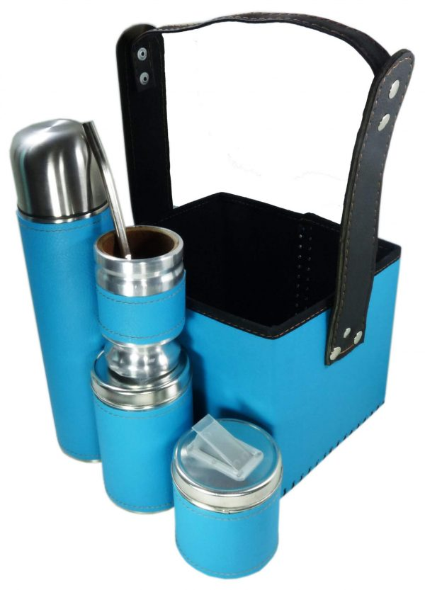 Set matero con canasta color azul