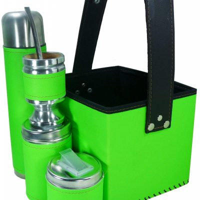 Set matero con canasta color verde fluor