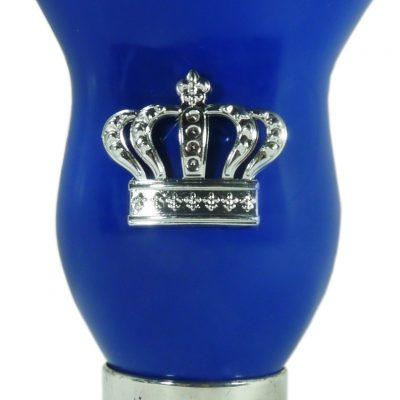 Mate calabaza color azul con corona por mayor