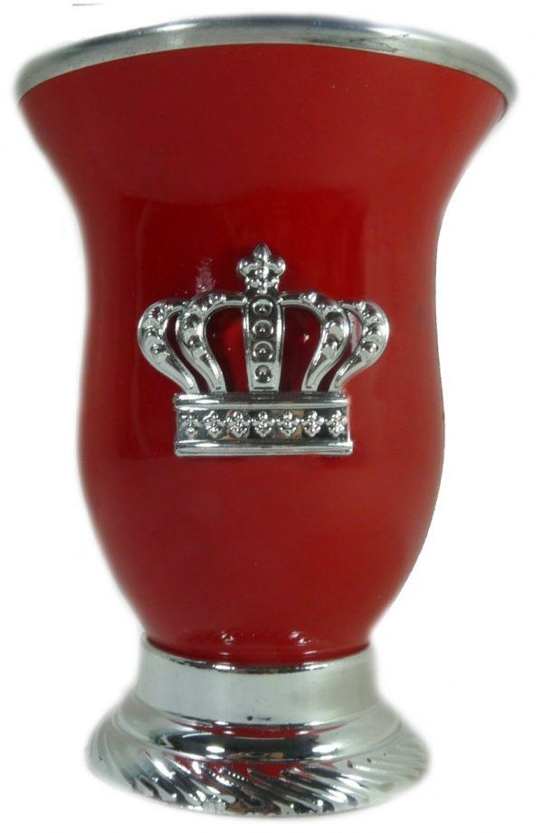 Mate calabaza color naranja oscuro con corona por mayor
