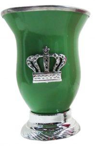 Mate calabaza color verde con corona por mayor
