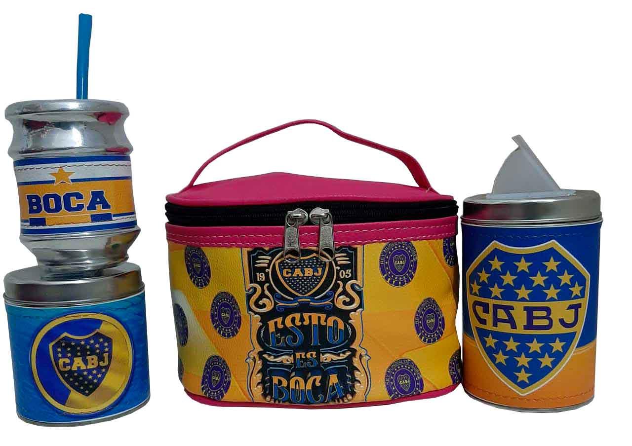 Set de mate personalizado con diseño de Boca junior