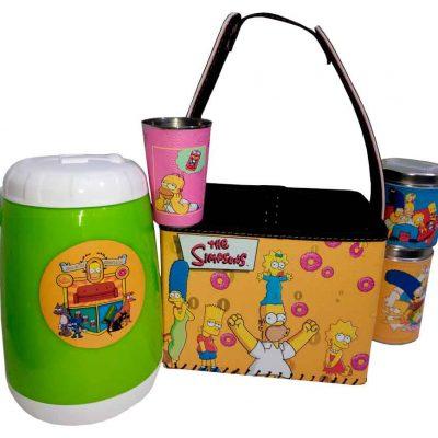 Set para terere con canasto diseño de Simpsons